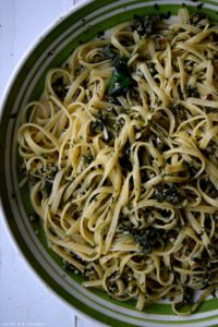 Summer Pesto Fettuccine