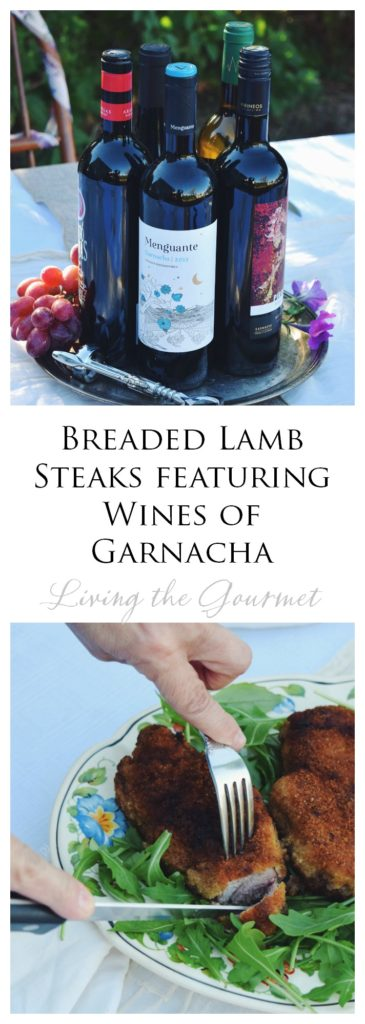 Living the Gourmet: Breaded Lamb Steaks featuring Wines of Garnacha | #LoveGarnacha #GarnachaDay #ad
