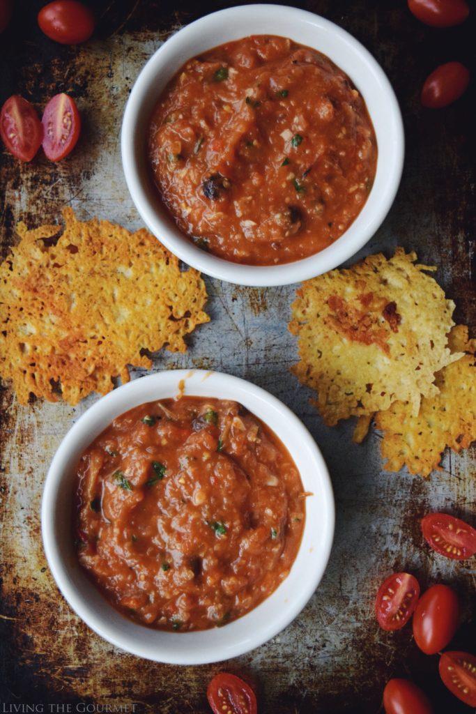 Living the Gourmet: Roasted Tomato & Pepper Gazpacho