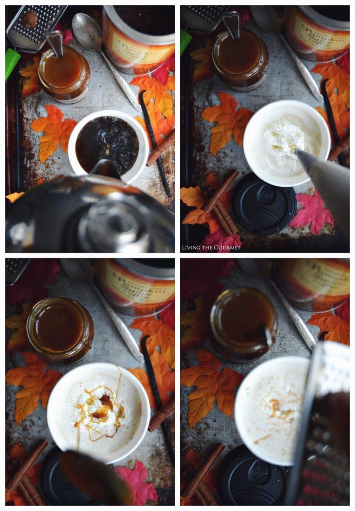 Living the Gourmet: Pumpkin Spice Caramel Latte   #CupForCrushingIt #ad