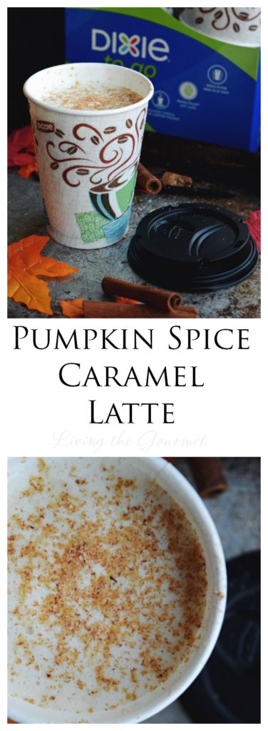 Living the Gourmet: Pumpkin Spice Caramel Latte | #CupForCrushingIt #ad