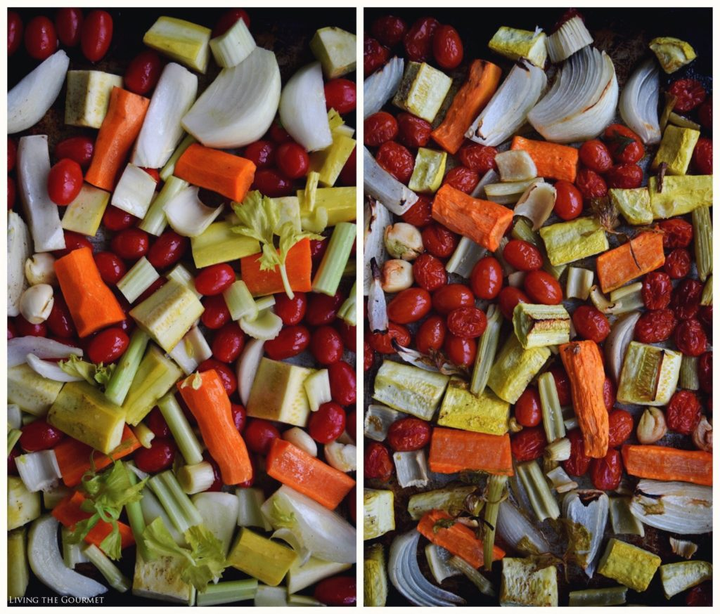 Living the Gourmet: Roasted Veggie and Chicken Soup
