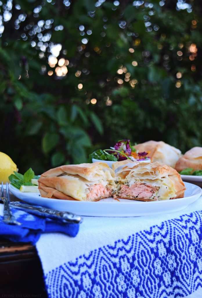 Living the Gourmet: Fresh Salmon Cream Cheese Filo Packages