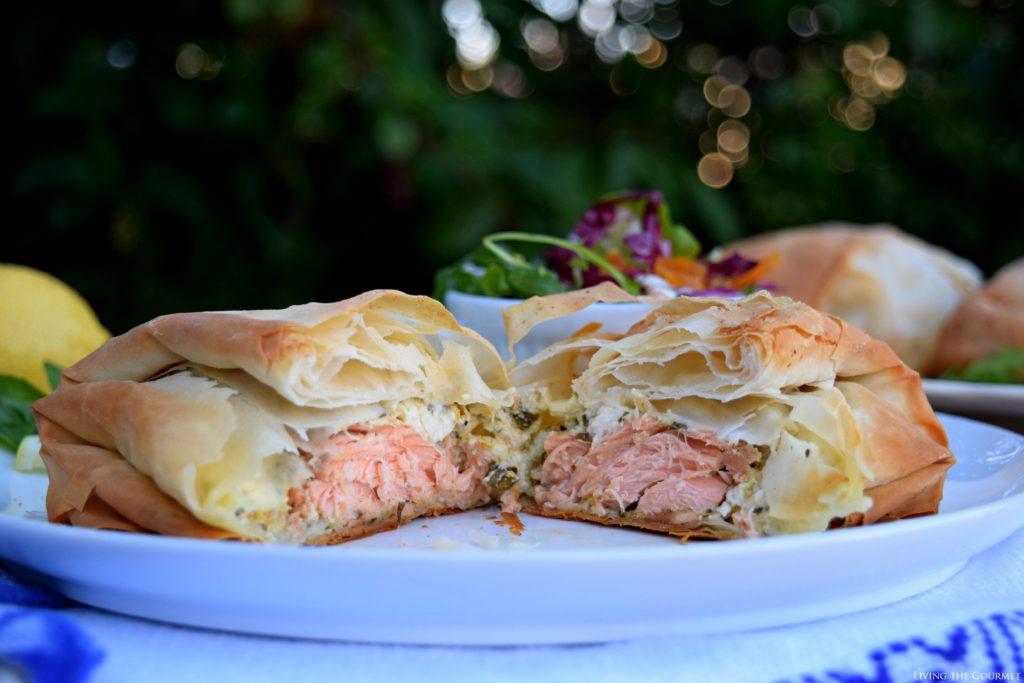 Living the Gourmet: Fresh Salmon Filo Pastries