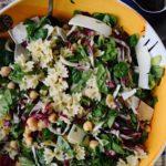 Three Green Salad with Farfalle