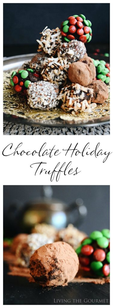 Living the Gourmet: Chocolate Holiday Truffles | #SweetSquad #BakeInTheFun #Ad