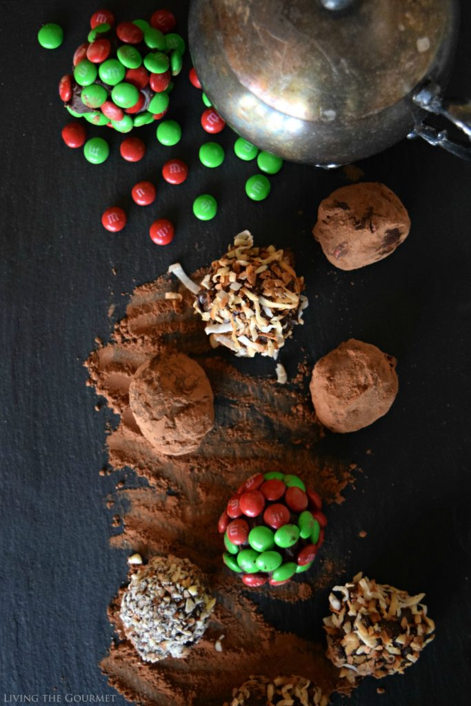 Living the Gourmet: Chocolate Holiday Truffles   #BakeInTheFun #SweetSquad #Ad