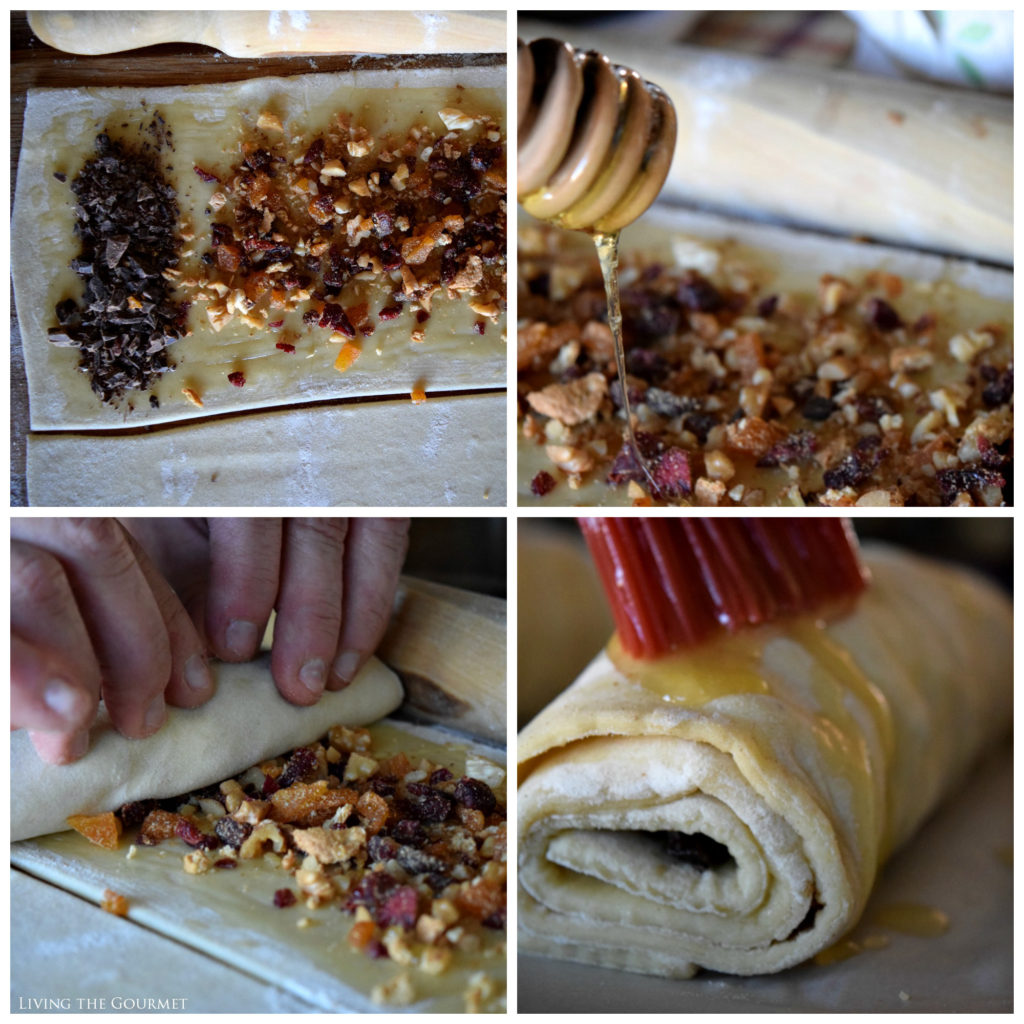 Living the Gourmet: Pain au Chocolat (with dried fruit and nuts) | #InspiredByPuff #Ad