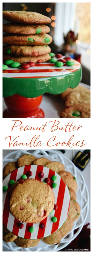 Living the Gourmet: Peanut Butter Vanilla Cookies | #SweetSquad
