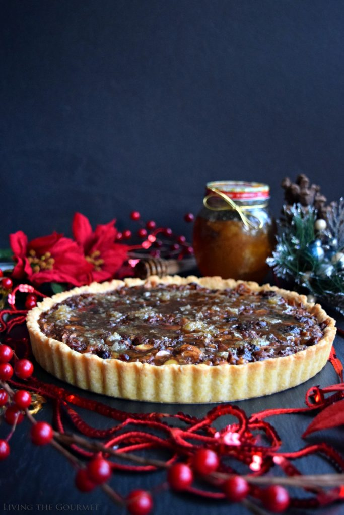 Living the Gourmet: Honey Nut Tart | #HoneyForHolidays #DonVictorHoney #ad