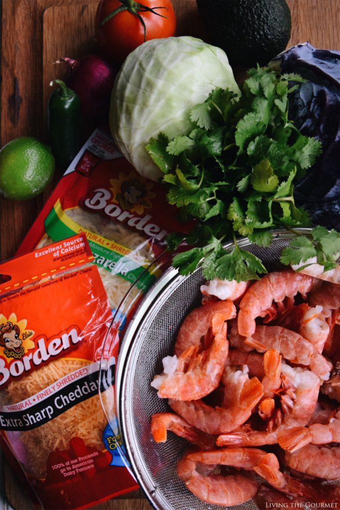 Living the Gourmet: Spicy Shrimp Tacos | #BordenCheeseLove #Ad