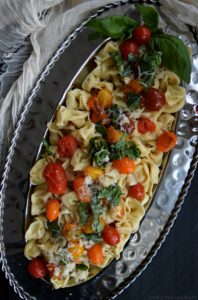 Tortellini with Blistered Tomatoes