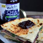 Chia Grape, Fruit and Brie Quesadillas