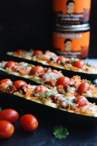 Spicy Chipotle Zucchini Boats