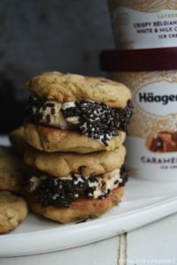 Chocolate Chip Sandwich Cookies featuring Häagen Dazs