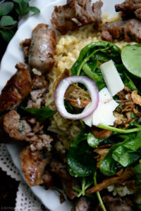 Carnaroli Rice with Baby Spinach and Sausage
