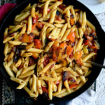 Penne with Roasted Peppers and Tomatoes