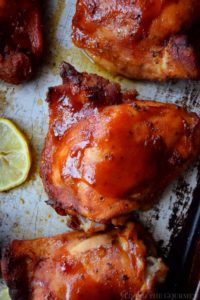 BBQ Baked Chicken Thighs