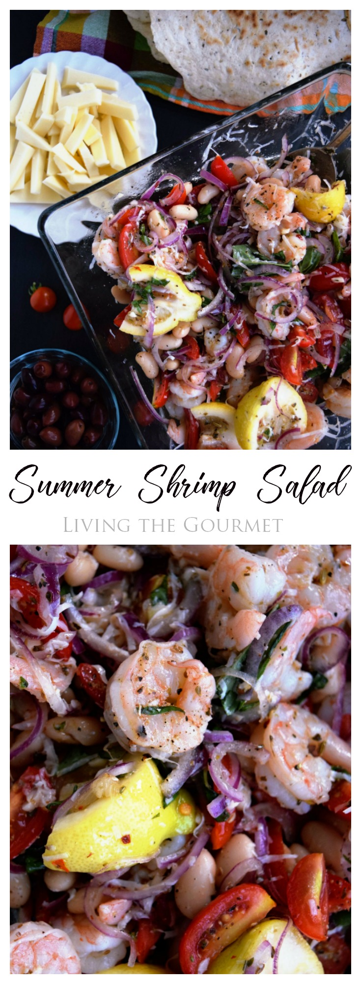 Living the Gourmet: This Summer Shrimp Salad is a cool, refreshing recipe for those hot summer nights that call for something easy!