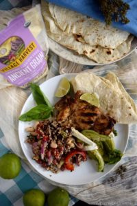 Ancient Grains Three Bean Salad with Grilled Chicken