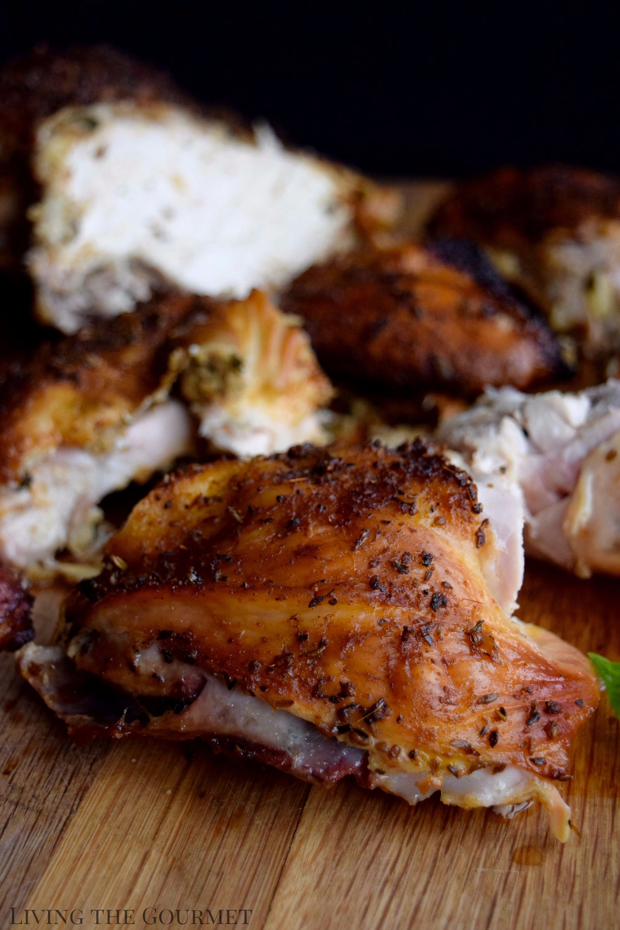 Living the Gourmet: Spatchcocked Chicken is a simple technique that will guarantee a perfectly cooked chicken throughout. Grill it up on the BBQ for a delicious and easy meal.