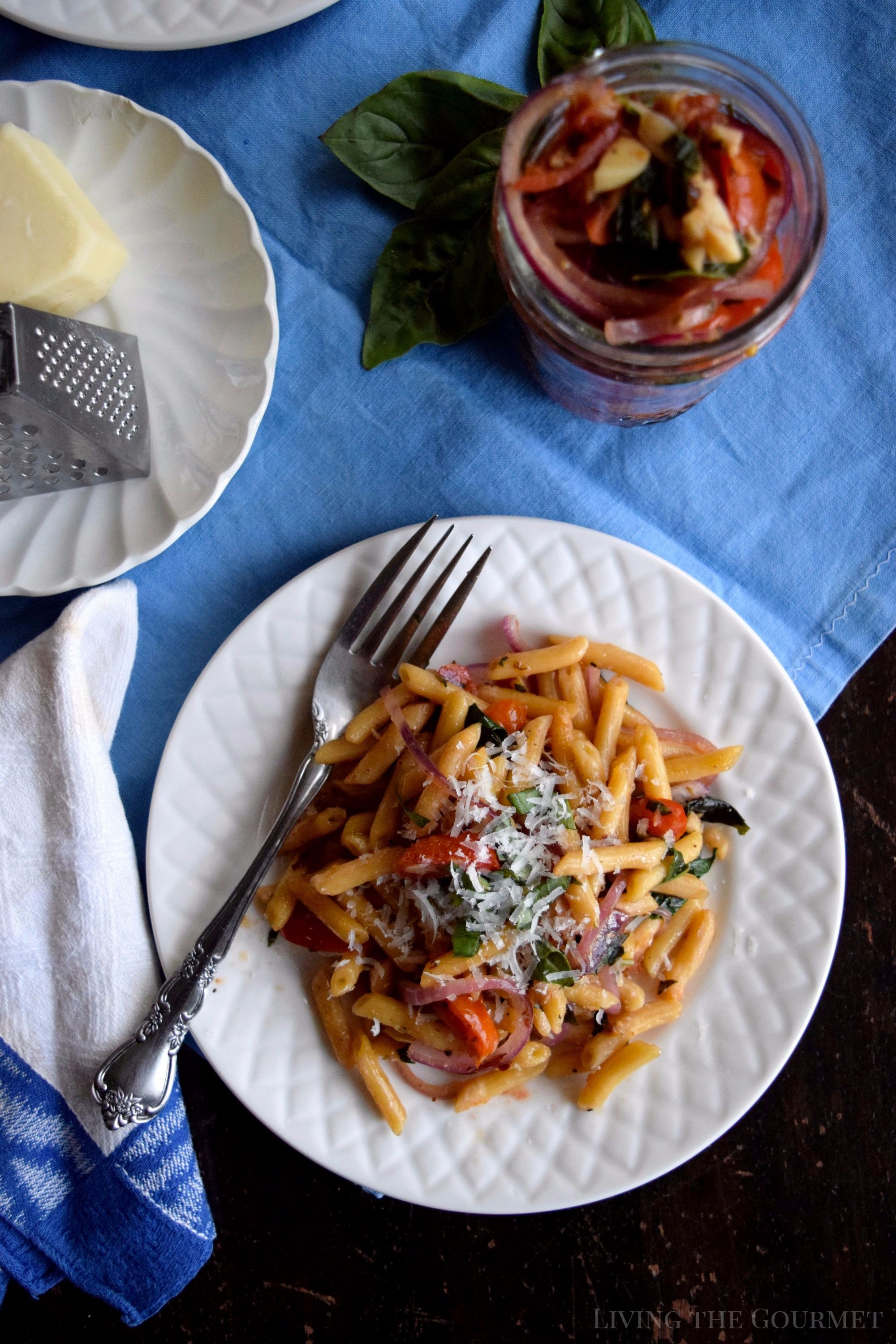 Make the most of the end of season harvest with this Fresh Garden Sauce served along side Barilla Ready Pasta for a simple, delicious meal. #ReadyPasta #ad