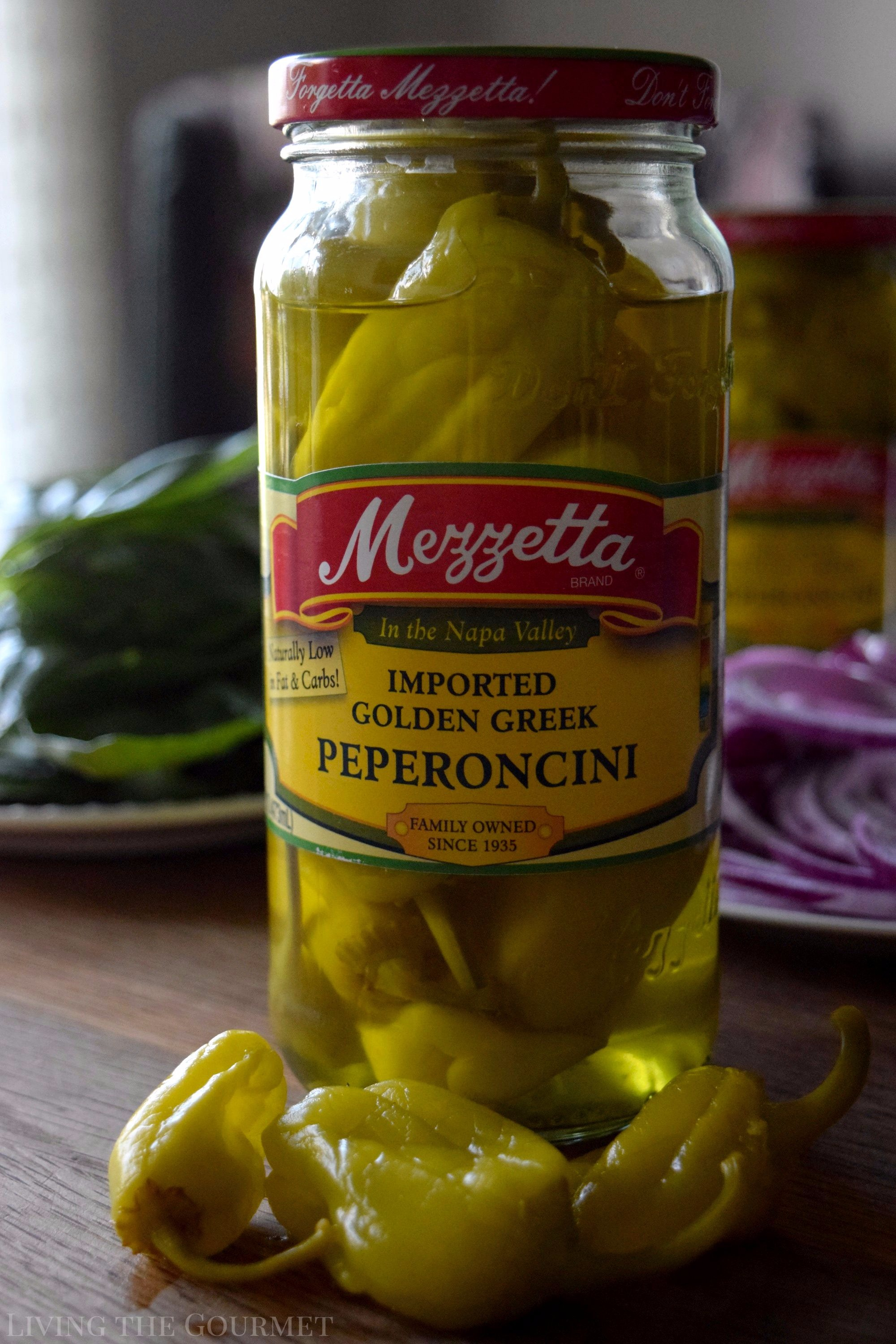 Living the Gourmet: Italian Peperoncini Sub Sandwiches are a delicious way to enjoy the mildly piquant, fruity flavor of Mezzetta Peperoncini | #DontForgettaMezzetta #Mezzetta