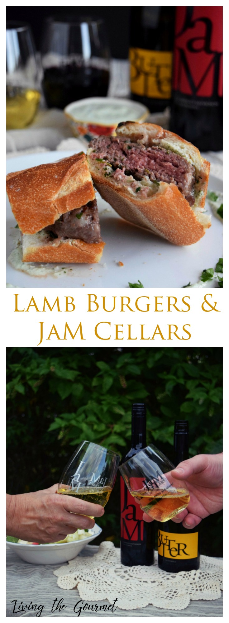 Living the Gourmet: Give summer a proper send off with these juicy Lamb Burgers paired alongside a glass of JaM Cellars | #JaMwinetime #ad