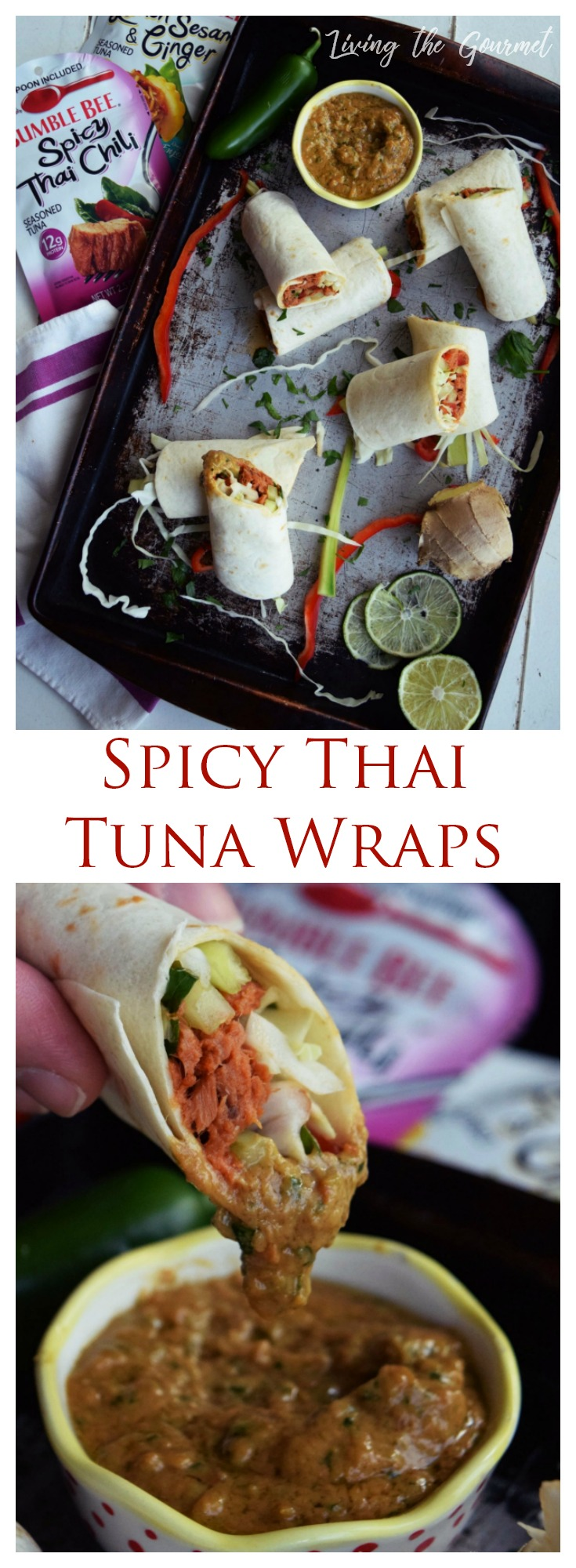 Whether you're on the go or looking for something simple and satisfying, these Spicy Thai Tuna Wraps are sure to hit the spot!