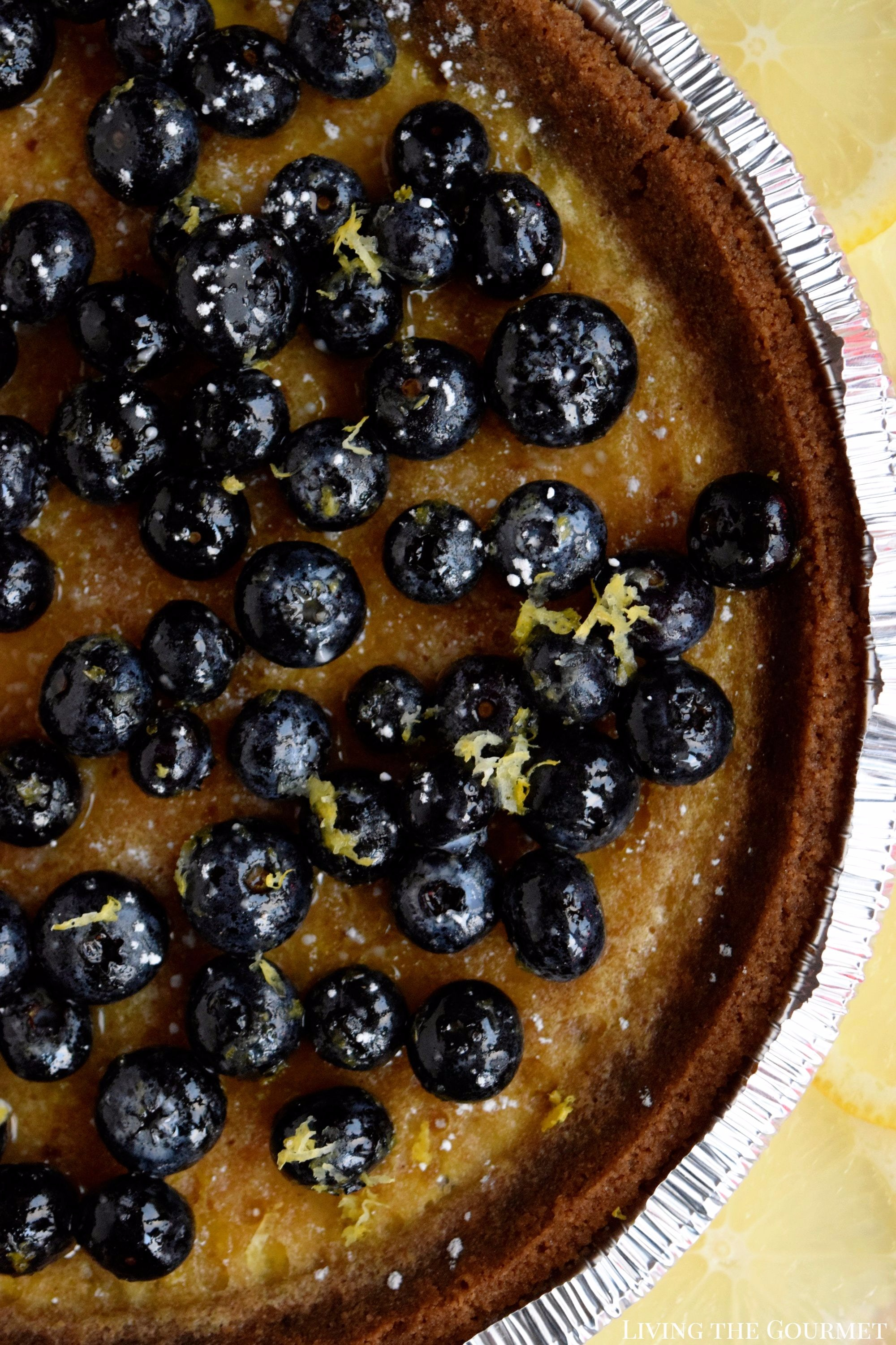 Blueberry Custard Pie (Gluten Free) - Living The Gourmet