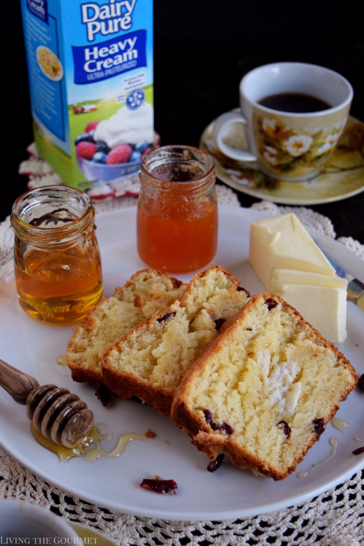 Honey and Cream Cranberry Bread - Living The Gourmet