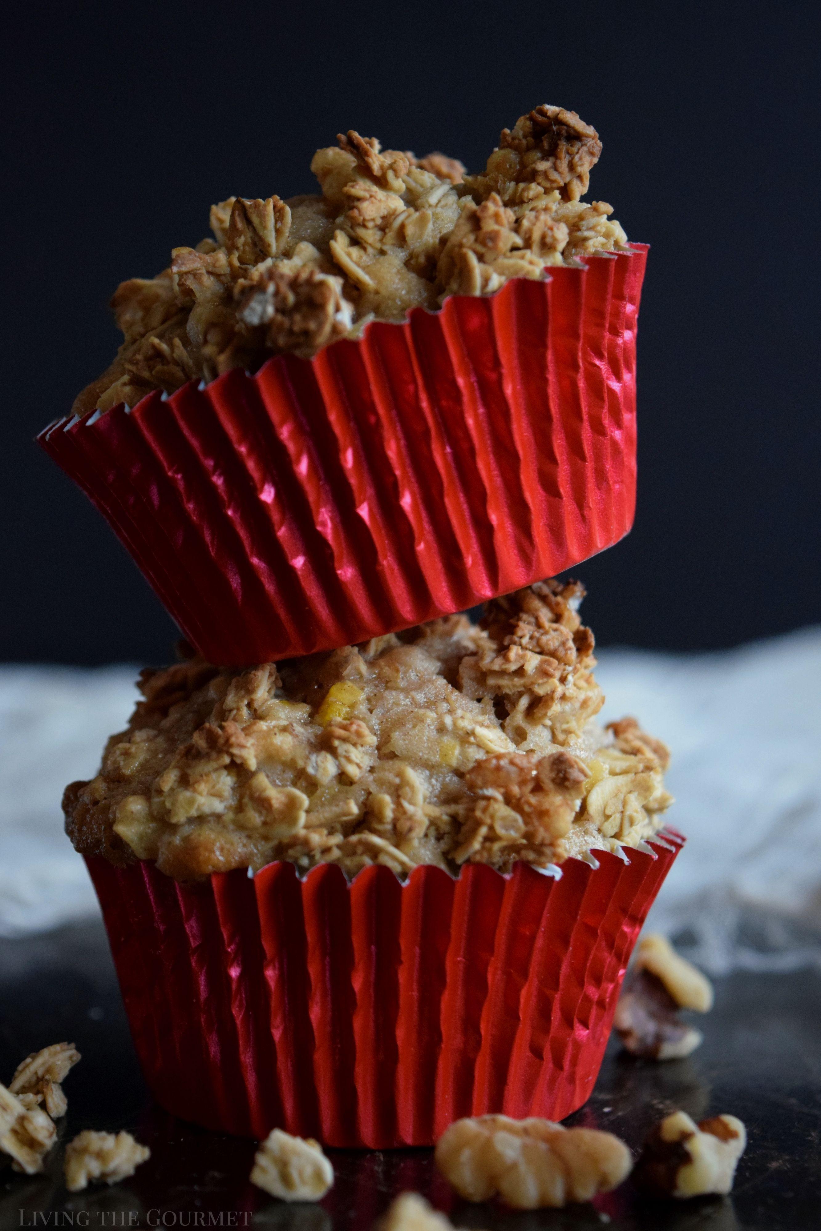 Apple Granola Muffins - Living The Gourmet