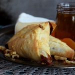 Apricot and Brie Phyllo Triangles