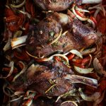 Lamb Shanks with Rice Pilaf