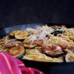 20 minute Fresh Tomato & Zucchini with Linguine