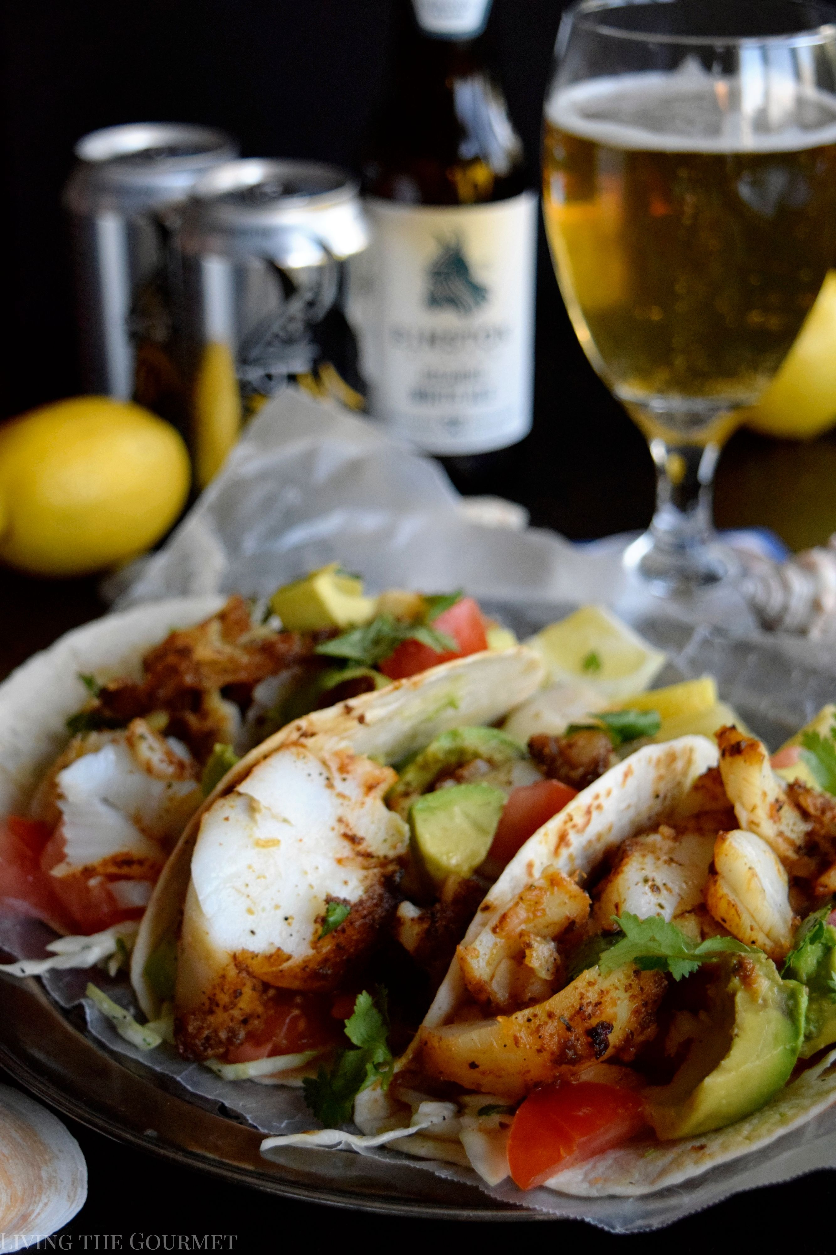 Blackened cod fish tacos living the gourmet for How to cook cod for fish tacos