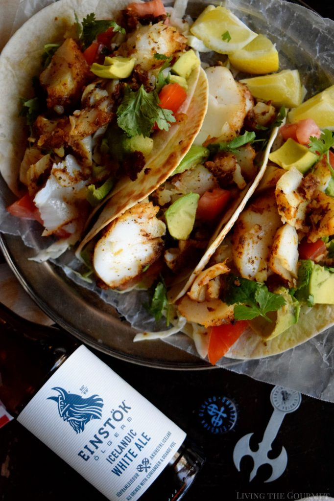 Blackened cod fish tacos living the gourmet for Fish tacos cod