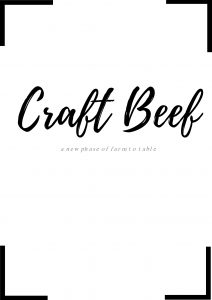 From Craft Beer to Craft Beef