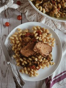Herbed Pork Loin with Pasta