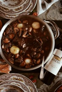 Beef Bourguignon featuring Decoy Wines