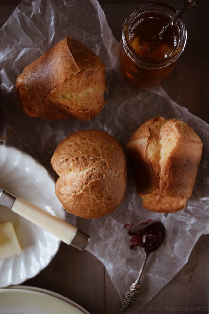 Parmesan Popovers and Blackberry Preserves