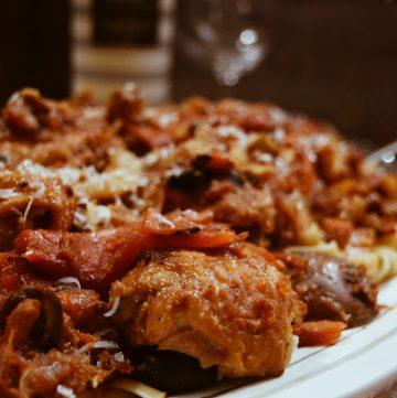 Chicken Cacciatore featuring Fontanafredda Winery