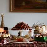 Christmas Dessert Tablescape featuring Mulled Apple Cider