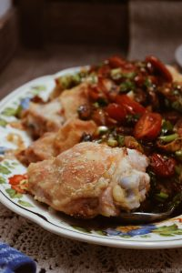 Fig and Apricot Chicken Thighs