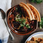 Vegetarian Chili and Herbed Waffle Crisps