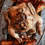 Roast Chicken with Roasted Poivrons and Carrots