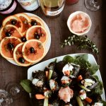 Mediterranean Nori Rolls and Pindar Wine
