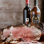 Roasted Bone-in Leg of Lamb featuring Herzog Wines