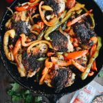 One Pan Skillet Chicken & Peppers