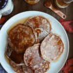 Diner Style Pancakes with Pumpkin Spice Maple Syrup